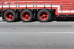 Semi Trailer Wheels Royalty Free Stock Photography