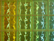Semi Transparent Glass Tiles with Colorful Lighting Stock Photography