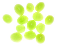 Semi-transparent grapes. Acid green grapes isolated on white background Royalty Free Stock Image