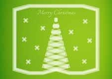 Semi transparent ribbon creating a christmas tree Royalty Free Stock Photo
