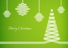 Semi transparent ribbon creating a christmas tree Royalty Free Stock Images