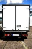 Semi-Truck. White Semi-Truck parked in forbidden spot Stock Photography