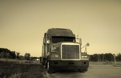 Semi Truck Royalty Free Stock Photography