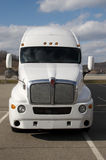 Semi Truck. Front View of a Semi Truck Royalty Free Stock Images