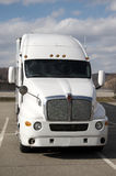 Semi Truck. Front View of Tractor Trailer Truck Stock Photo