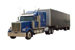 Semi Truck Stock Image