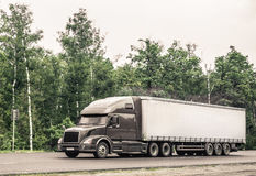 The semi truck royalty free stock photos