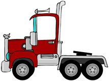 Semi truck cab. This illustration depicts the cab of a semi truck Stock Image