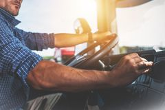 Semi Truck Driver Job Stock Photography