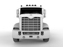 Semi truck front view Royalty Free Stock Image