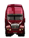 Semi truck front view. Semi truck on a white background Stock Images