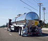 Semi Truck Fuel Transport. Semi truck delivery cargo of fuel Stock Photography