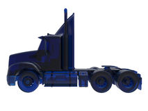 Semi truck - glass blue Royalty Free Stock Photography