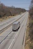 Semi Truck on Highway Stock Image