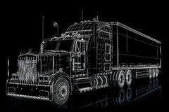 Semi truck illustration Stock Images