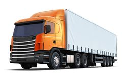 Semi-truck isolated on white background Stock Photography