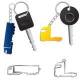 Semi truck key holders Stock Photography
