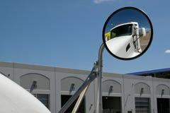 Semi Truck Mirror Royalty Free Stock Photography