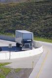 Semi Truck On Ramp Stock Photo