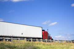 Semi Truck on the road Stock Image