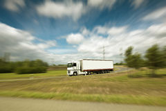 Semi truck on the road Royalty Free Stock Images