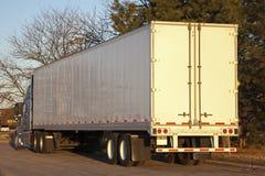 Semi truck seen early morning Royalty Free Stock Photo