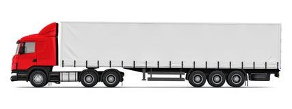 Semi-truck side view profile Stock Photo