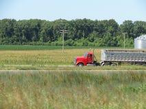 Semi Truck and trailer Stock Image