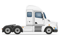 Semi truck trailer vector illustration. On white background Stock Photography