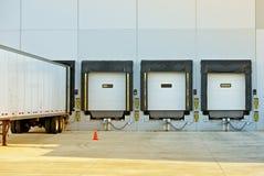 Semi Truck and Warehouse Stock Photo