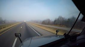 Semi-Truck Windshield - Highway Driving