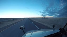 Semi-Truck Windshield - Highway Driving Time Lapse. Semi-Truck Windshield - Rural America Highway Driving during winter months stock footage
