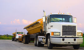 Semi trucks Royalty Free Stock Images