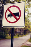 Semi trucks not allowed Royalty Free Stock Image
