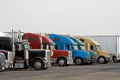 Semi Trucks Royalty Free Stock Photos