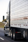 Semi Trucks Traveling Stock Photo
