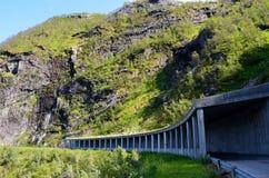 Free Semi Tunnel In Mountain Side On Senja Island Royalty Free Stock Photography - 103176437