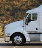 Semi táxi do caminhão Imagens de Stock Royalty Free