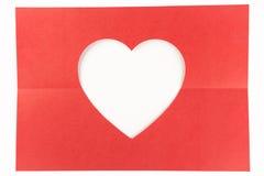 Semi vouwen wit hart Royalty-vrije Stock Fotografie