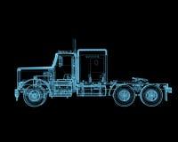Semi vrachtwagen Royalty-vrije Stock Afbeeldingen