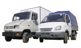Semi-vrachtwagen twee Royalty-vrije Stock Afbeelding