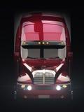 Semi vrachtwagen vooraanzicht Royalty-vrije Stock Afbeeldingen