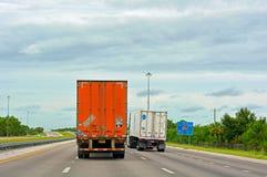 Semi vrachtwagens Royalty-vrije Stock Fotografie
