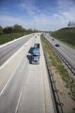 semi wysypiska ciężarówka. obraz stock
