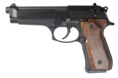 Semiautomatic handgun on white background Royalty Free Stock Photo