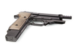 Semiautomatic pistol Royalty Free Stock Images