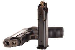 Semiautomatic Pistol with Magazine Royalty Free Stock Photos