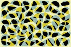 Semicírculos al azar azules negros de color caqui en el fondo blanco Modelo geom?trico abstracto de las formas en el estilo retro libre illustration