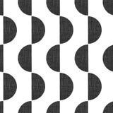 Semicírculos geométricos sem emenda do teste padrão do vetor do estilo monocromático da cópia de tela verticais com textura do gr ilustração stock
