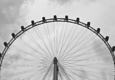 Semicircle Big Ferris Wheel Background Royalty Free Stock Photo